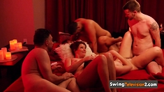 Swinger babe loves to talk about sex experiences and orgies.