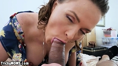 MILF stepmother wants to repent for her sexual sins